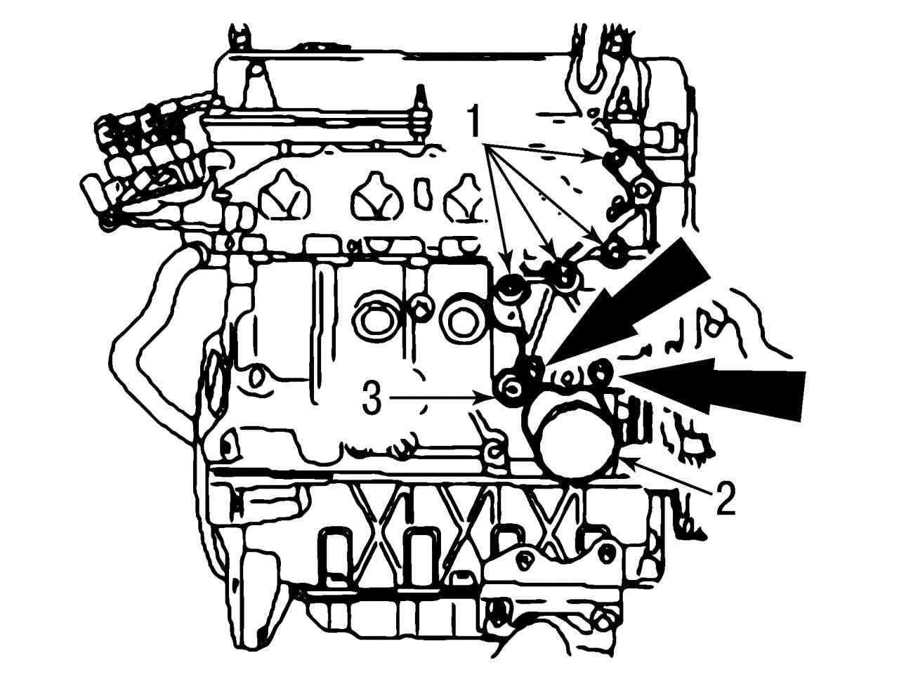 навесные детали двигателя схема