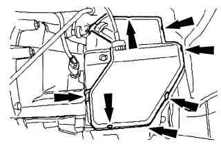 Снятие крышки механизма переключения передач