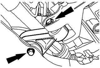 а. Снятие опоры двигателя