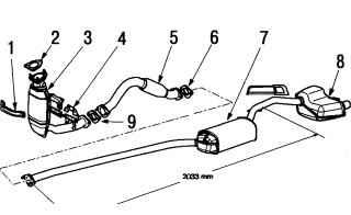 б. Система выпуска отработавших газов для двигателей с рабочим объемом 1,8 — 2,0 л