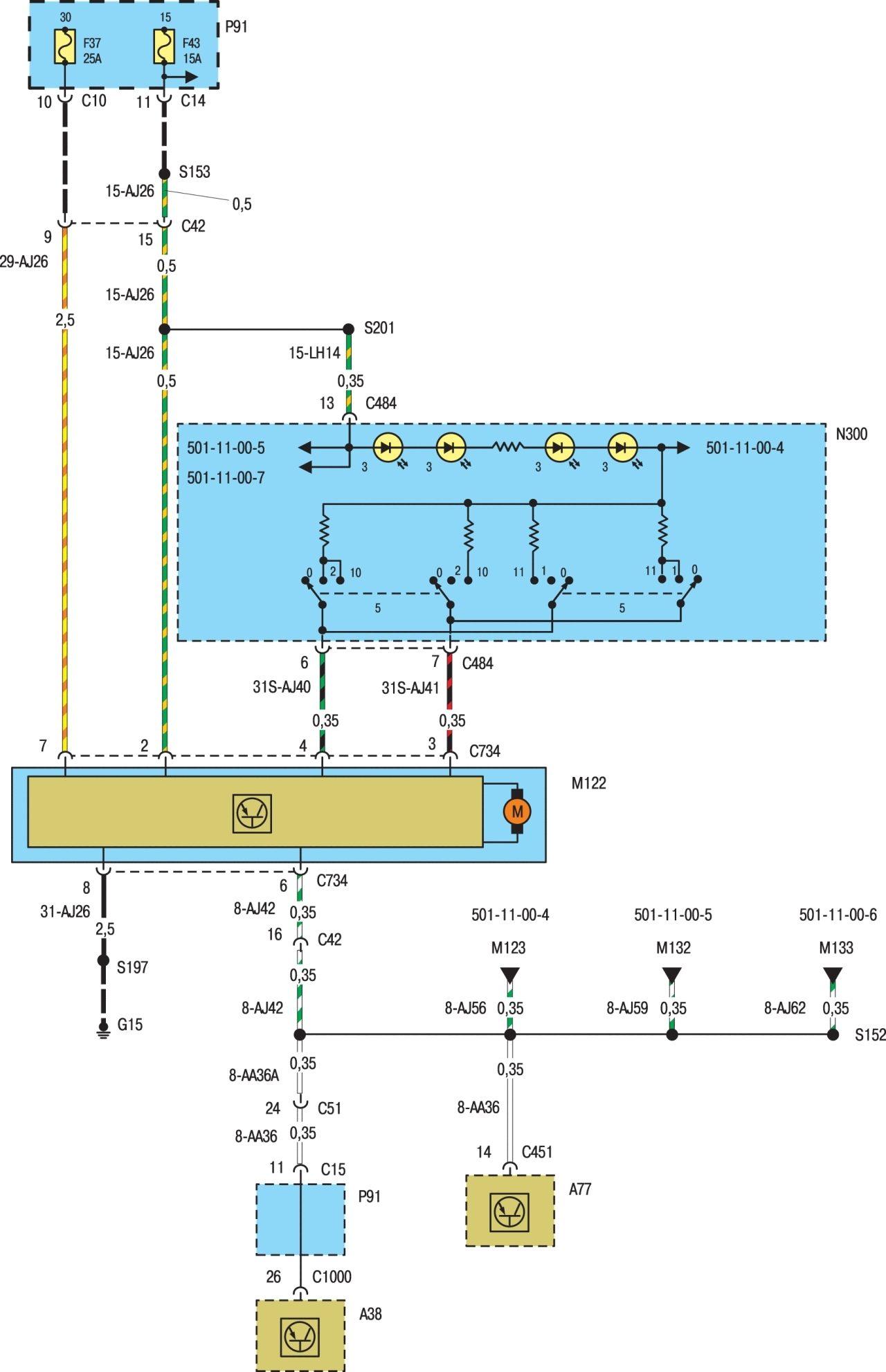 Заранее спасибо! не совпадает описание к данной схеме!  A30 (7) - контрольная лампа указателя левого поворота.