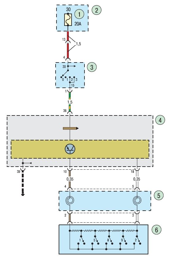 Электросхема системы контроля скорости Ford focus 2 и Ford focus 3.