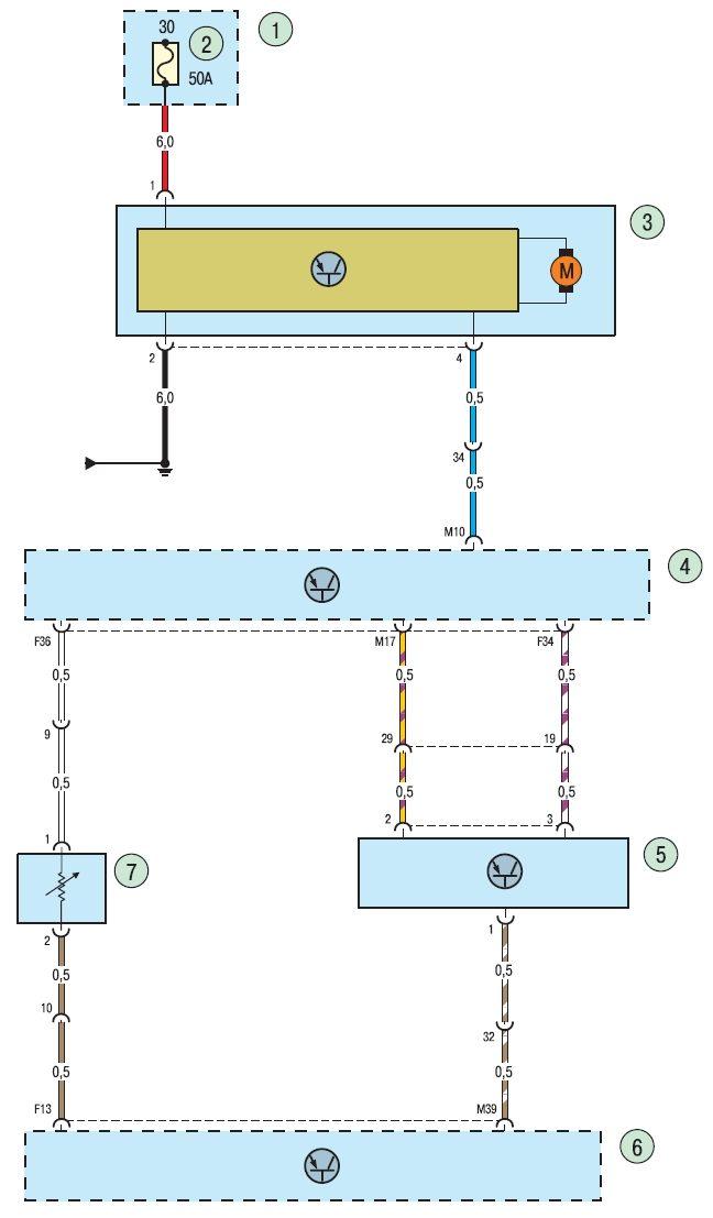 Элементы установленные в электросхеме климат контроля Ford focus2 и Ford focus 3. Рис.1 Электросхема климат контроля...