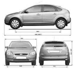 Габаритные размеры автомобиля с кузовом хэтчбек