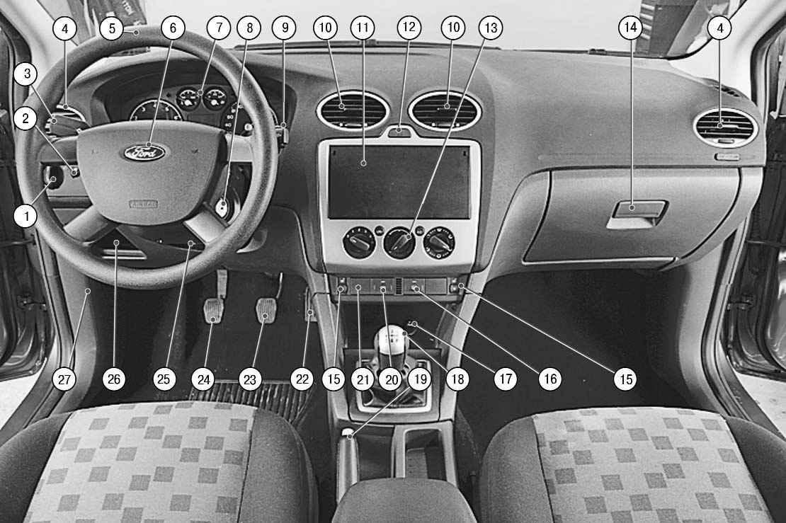 ford focus 2 схема электрооборудования