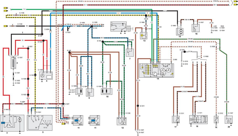Схема электрического контура зарядки и стартера.