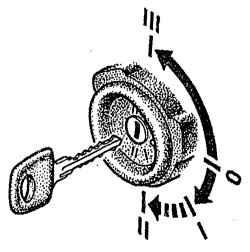 Положения ключа выключателя зажигания, стартера и противоугонного устройства