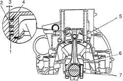 Блок цилиндров и поршень