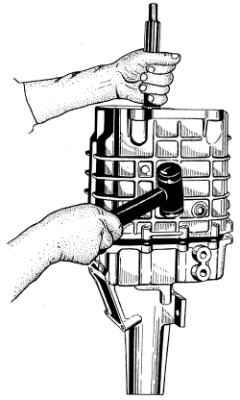 Установка переднего картера