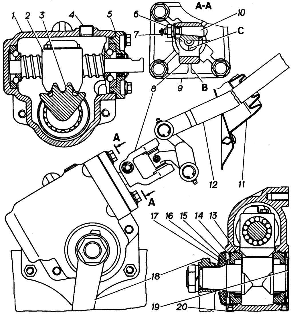 Снятие рулевого механизма.  Снять шплинт и отвернуть гайку клина на рулевом механизме, вынуть клин...