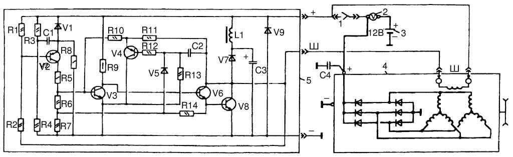 Электроная схема генератора газ 3110.