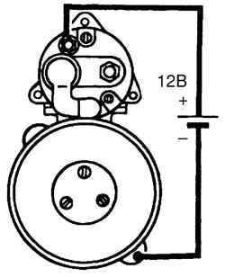 Схема проверки регулировки выключателя стартера