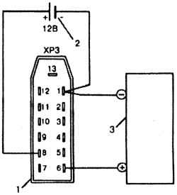 Электрическая схема проверки тахометра