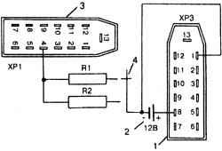 Электрическая схема проверки указателя давления масла