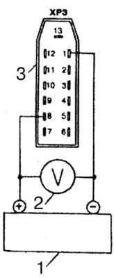 Электрическая схема проверки указателя напряжения