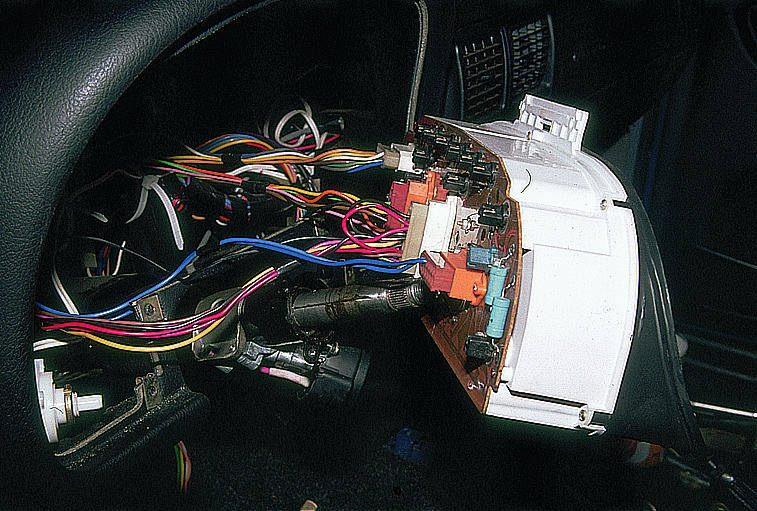 щиток приборов на газ 31105 расположение штекеров термобелья должна