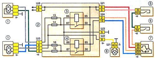 Схема соединения вентилятора с сигнализатором