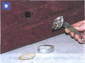 Снятие замка двери колпака и его приводов