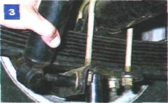 Снятие амортизатора задней подвески