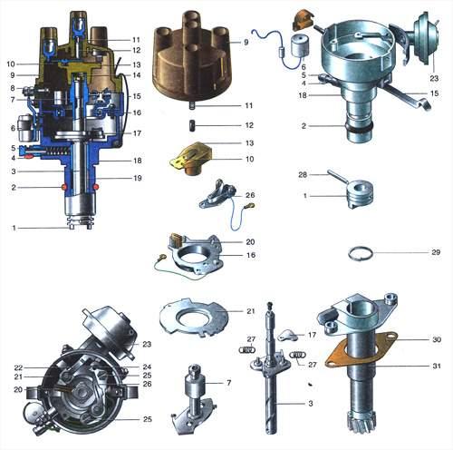 Система зажигания двигателя УМПО-331