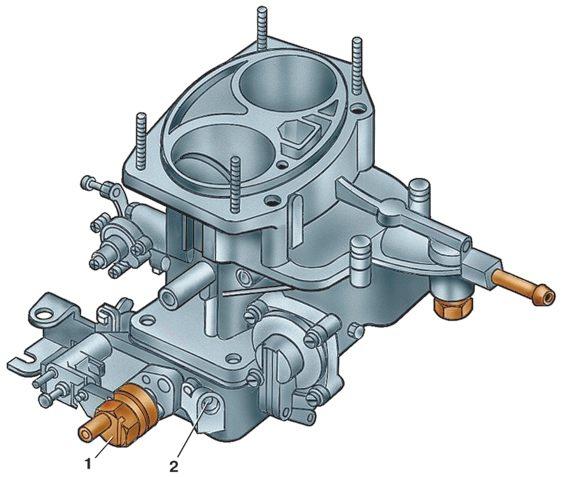 """Карбюратор ДААЗ 2141 1107010 (типа  """"озон """") вертикальный двухкамерный с падающим потоком смеси и двухдиффу-зорным..."""