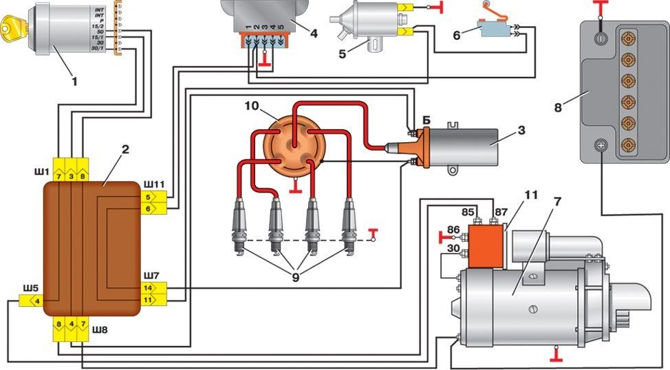 Электрическая схема chorus 706 s. Схема электрооборудования калина.