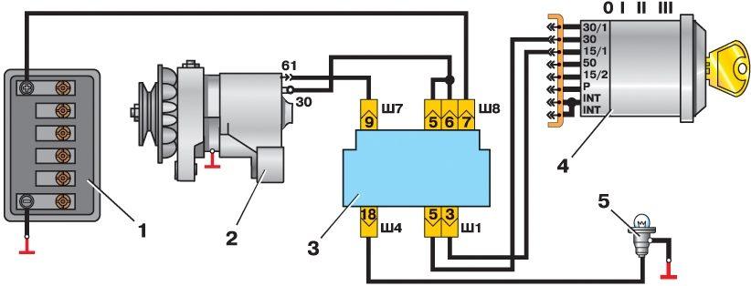 Схема подключения дополнительного генератора на луаз.