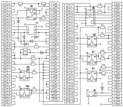 Схема внутренних соединений монтажного блока 21214.3722 (367.3722)