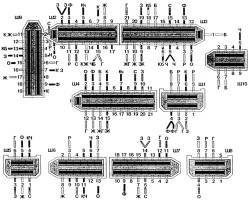 Цвета проводов, присоединяемых к монтажному блоку с нижней стороны (цифрами указаны условные номера штырей)