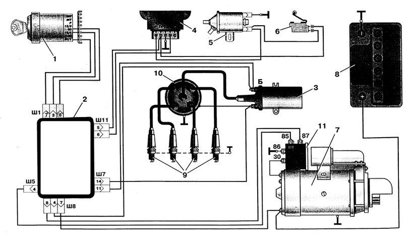 Схема электрики иж-ода.