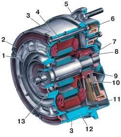 Электродвигатель вентилятора системы охлаждения двигателя