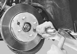 Замена тормозного диска