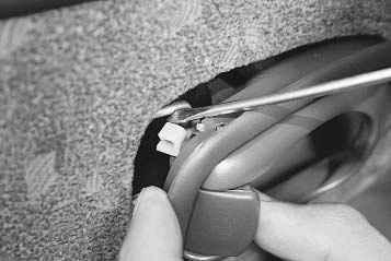 как снять ручку на двери киа спектра