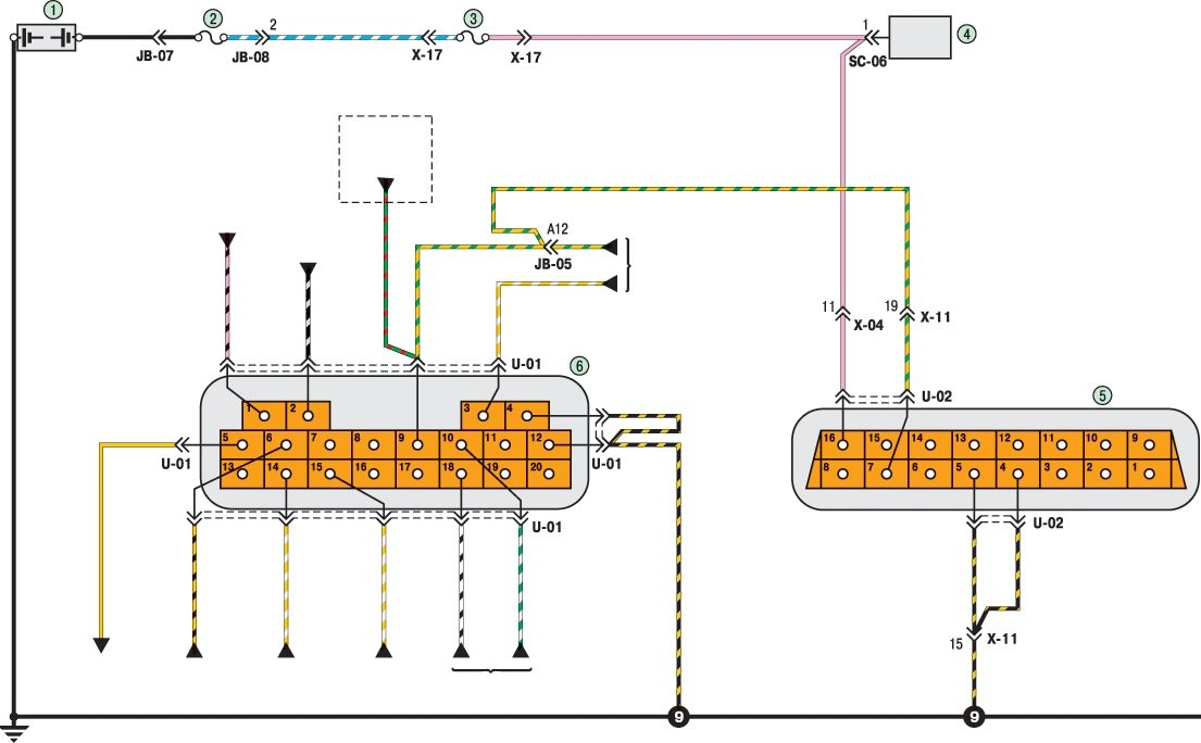 Киа спектра схема кондиционера
