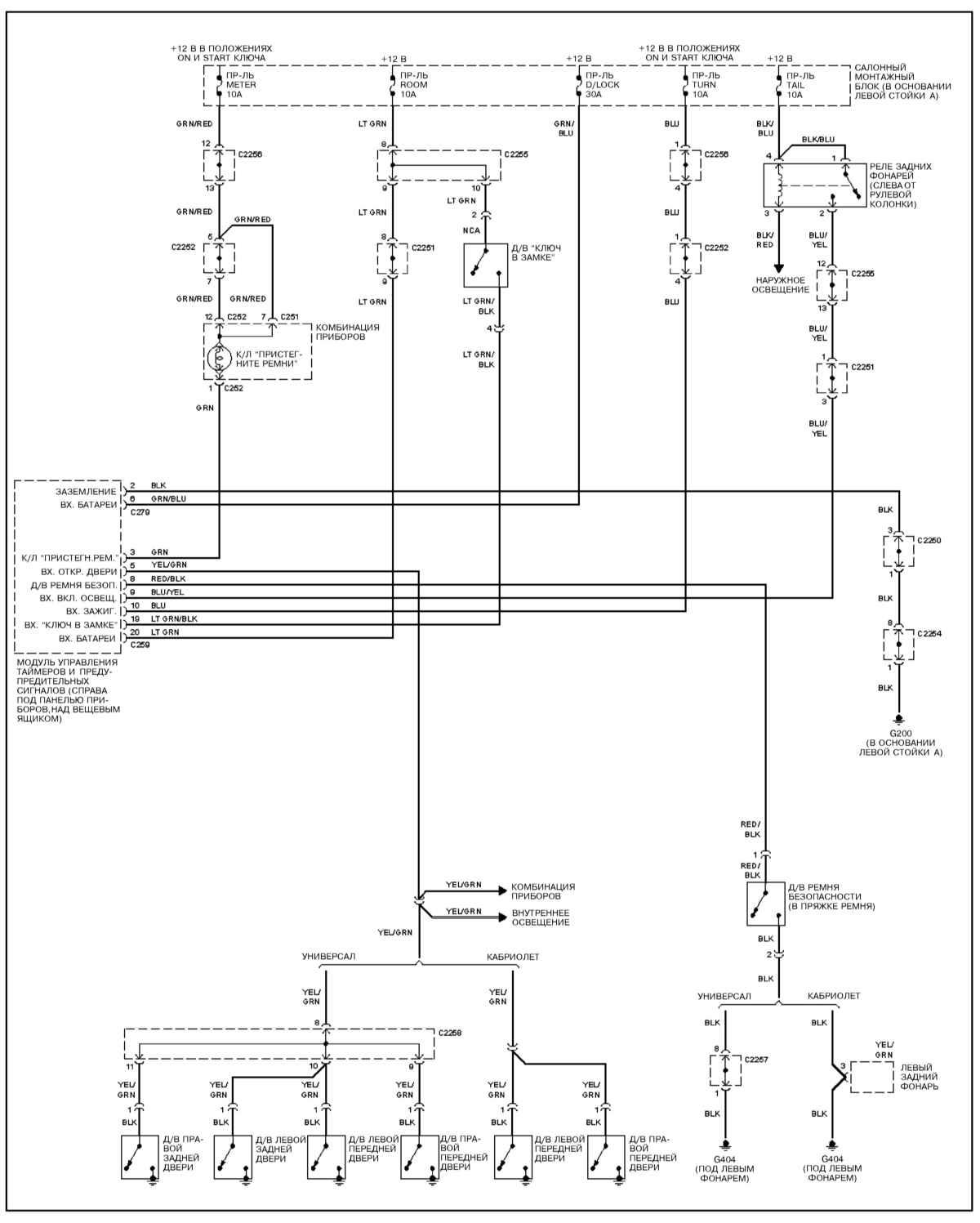 kia sportage 2 схема электрическая