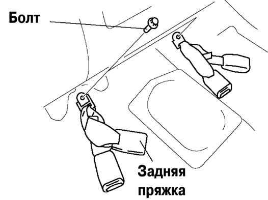 Как снять заднее сиденье мазда 6