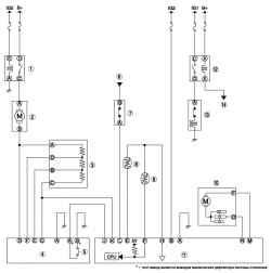 Монтажная схема системы управления кондиционера.
