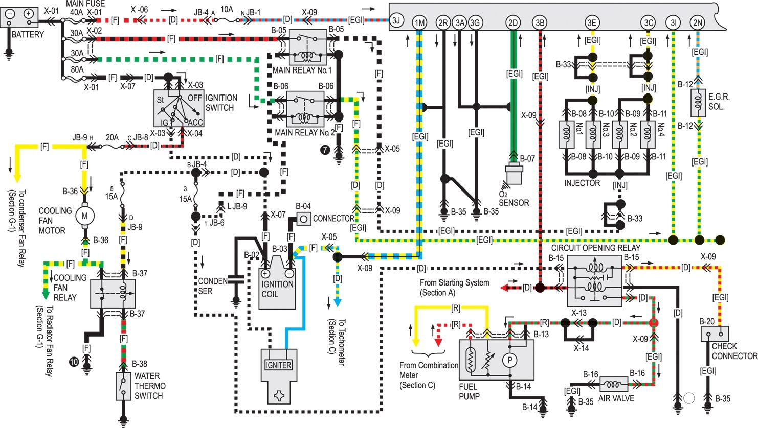 Схема автомобиля мазда 323 принципиальные схемы электрооборудования на mazda 323 1985 1993 г в схема...