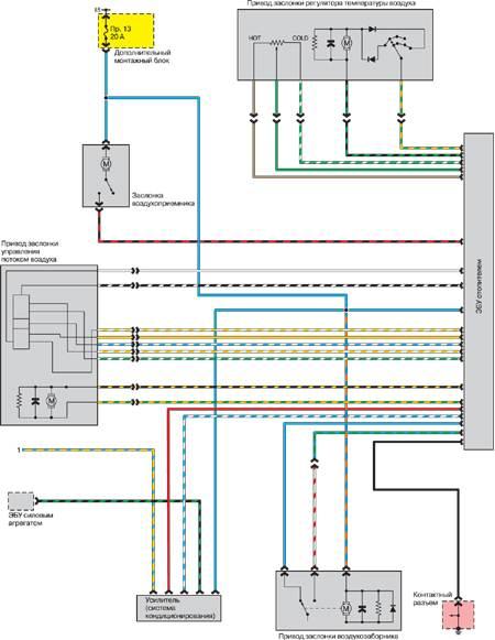 Цепь компрессора кондиционера