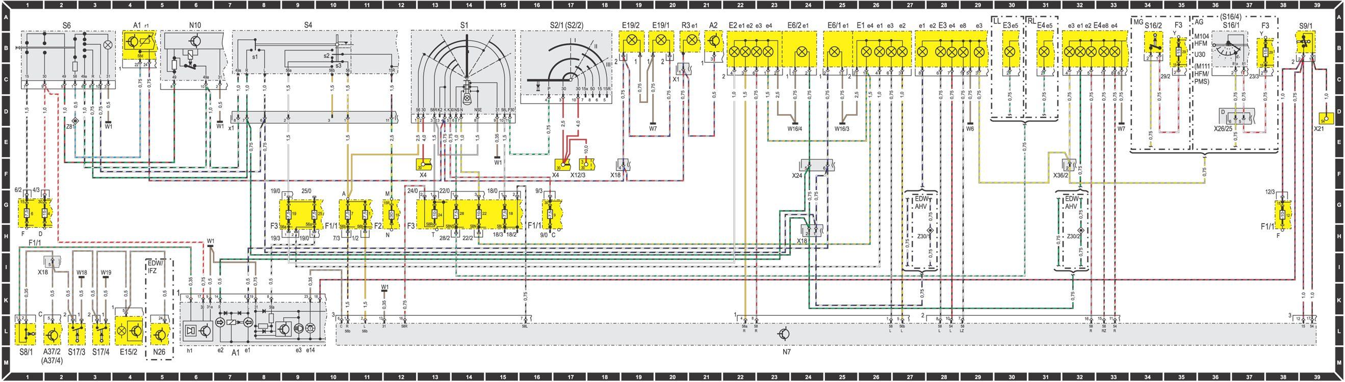 Индекс Элемент схемы Координаты А1 Комбинированный прибор 4А 7М А1е1 Указатель мигающего светосигнального устройства...