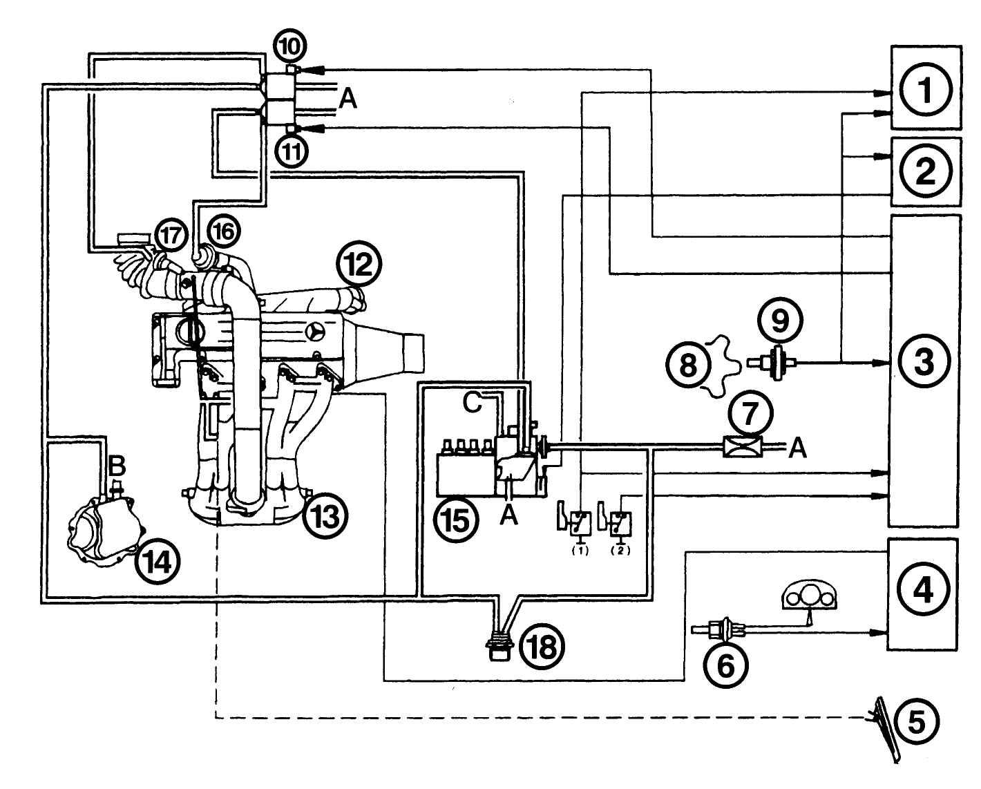 ...вращения на холостом ходу Система действует через вакуумную камеру на регулятор холостого хода в ТНВД.