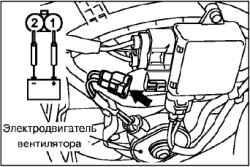 Проверка реле электровентилятора