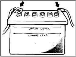 Проверка состояния аккумуляторной батареи, и ее выводов