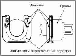 Снятие и установка привода переключения передач