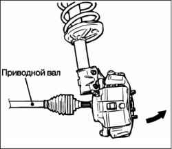 Снятие и установка вала привода колеса в сборе