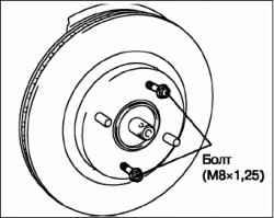 Снятие и установка ступицы переднего колеса в сборе