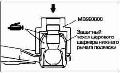 Снятие и установка нижнего рычага подвески