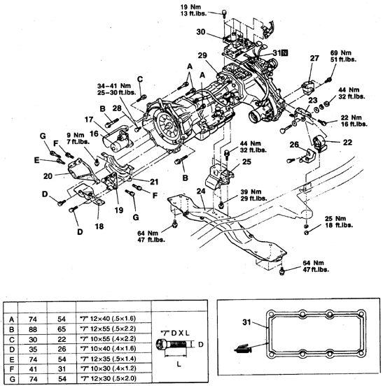 Раздатка pajero 3 схема