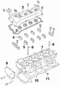 Детали головки блока цилиндров