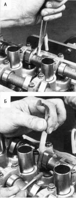 Замена регулировочной шайбы при регулировке зазоров в механизме привода клапанов
